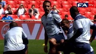 England training at Wembley   England vs Switzerland 04/06/11