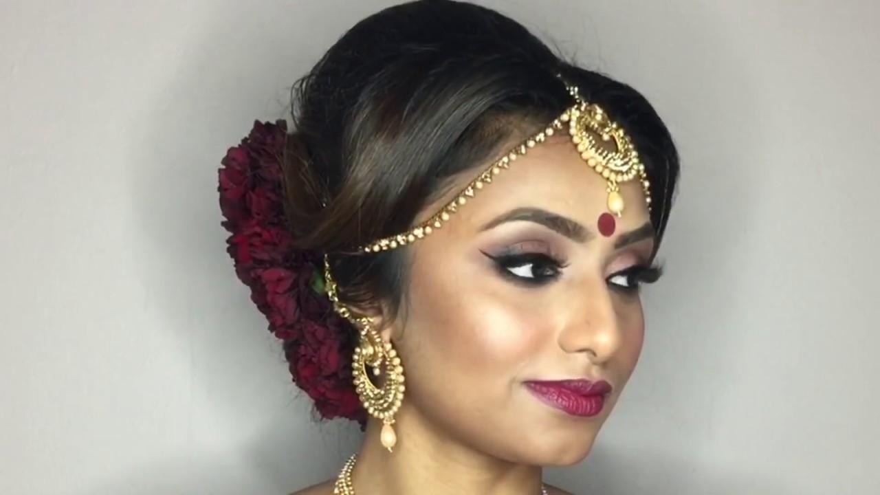 south indian bridal hair, makeup & dressing by jaineesha makeup artist