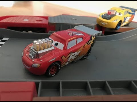 Disney Cars Xrs Drag Racing Lightning McQueen Review