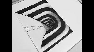 Görsel Sanatlar Dersi Etkinlikleri \3D Tünel\ \3D Nasıl Çizilir\ \How to draw?\