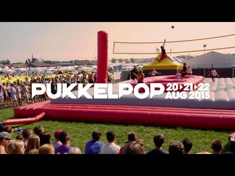 Bossaball - Music and sports at the Pukkelpop music festival in Belgium