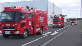 石狩湾新港発電所で火災防御訓練 小樽市消防本部画像
