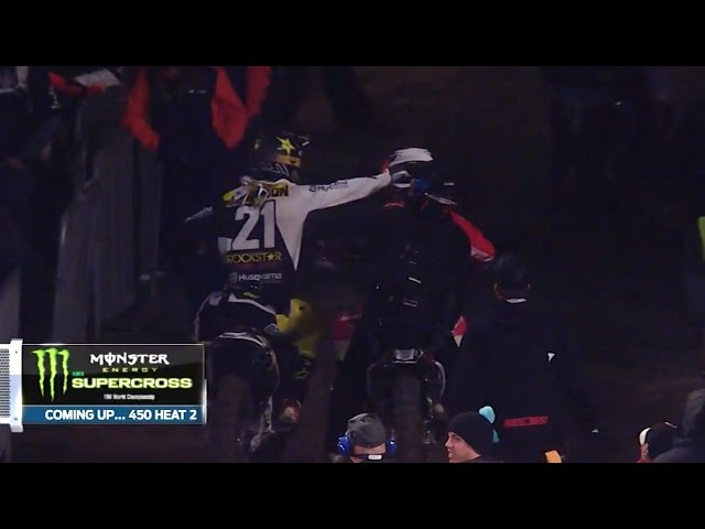 Jason Anderson Swings at Vince Friese Following Crash - Anaheim 2 2017