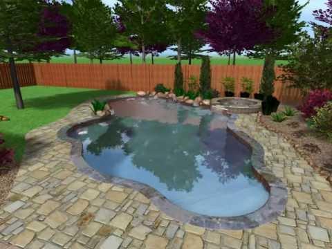Swimming Pool In A Side Yard Setting Youtube