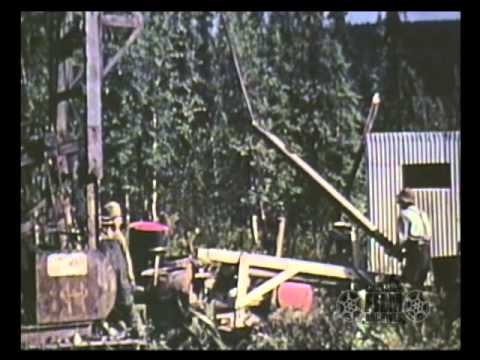 Prospecting for gold with drilling rig