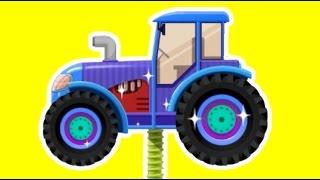 Мультик про трактор. Завод тракторов. Мультфильм про трактор. Техника для детей. Собираем трактор.