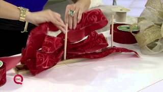 How To Make A Christmas Bow With Lisa