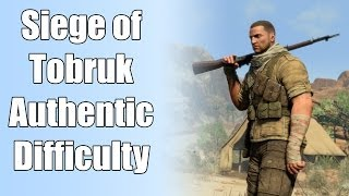 Sniper Elite 3 Gameplay - Mission 01 (Siege of Tobruk) - Authentic Difficulty - [PC HD 60FPS]