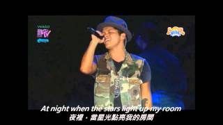火星人布魯諾Bruno Mars _ Talking To The Moon現場安可曲 - LIVE【中文字幕】