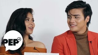 Watch how Loisa Andalio made Ronnie Alonte kilig with this line | PEP Challenge