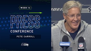 Head Coach Pete Carroll Week 14 Wednesday Press Conference   2019 Seattle Seahawks