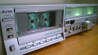 Vintage 1980's Toshiba Aurex PC-X60AD cassette tape deck with ADRES