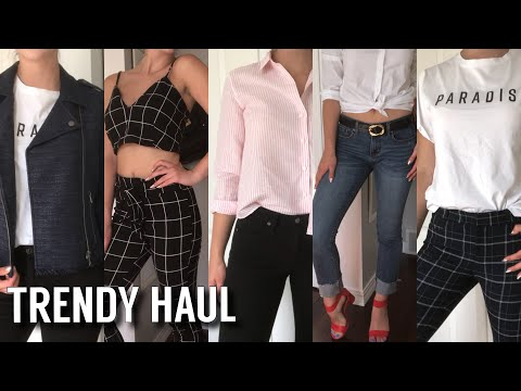 TRENDY TRY ON FASHION HAUL | Banana Republic, Steve Madden, Dynamite + More