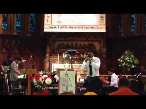 Yesu devuni aaradhikulam, venuka chudani sinukulam. Bro Anil Kumar at London CBF Church