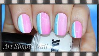 Легкий дизайн ногтей для начинающих в полоску   Полоски на ногтях   Stripe Nails