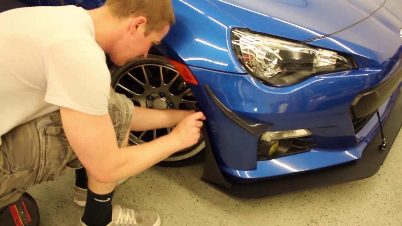 BRZ/FRS/GT86 Front Splitter Endplates Install