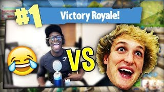 DEJI VS LOGAN PAUL IN FORNITE BATTLE ROYALE