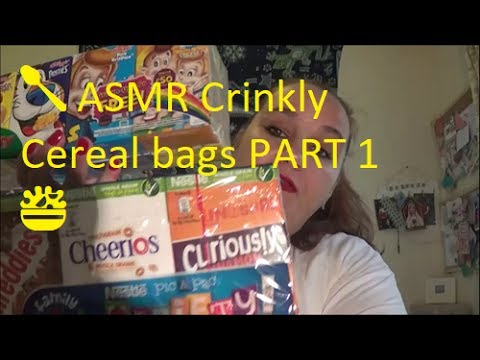 🥄 ASMR Crinkly Cereal bags PART 1 🥗