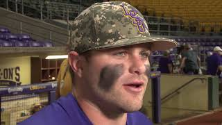 POST GAME: Beau Jordan talks home run, LSU 10-5 loss to Notre Dame