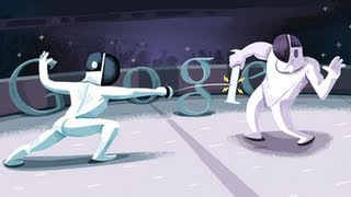 London 2012 Fencing Google Doodle
