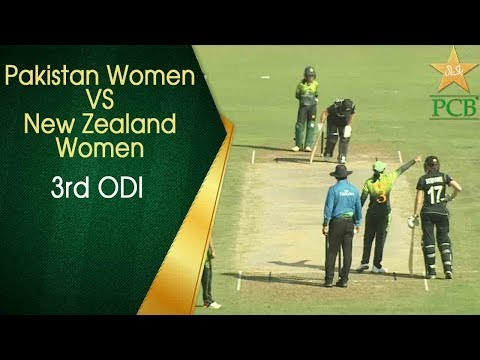Pakistan Women v New Zealand Women - 3rd ODI at Sharjah Cricket Stadium