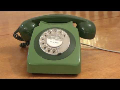 Vintage Rotary Dial Telephone. Uk Model. 1980`s.