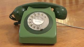 Vintage Rotary Dial Telephone. Uk Model. 1980`s.