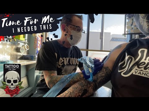 TATTOO DAY | Mountain Drive Back To Warmer Weather | VAN LIFE CANADA