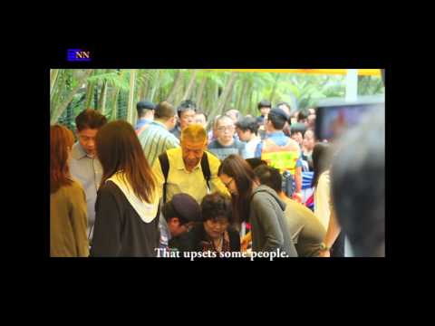 Disent voices unheard at CY Leung's home
