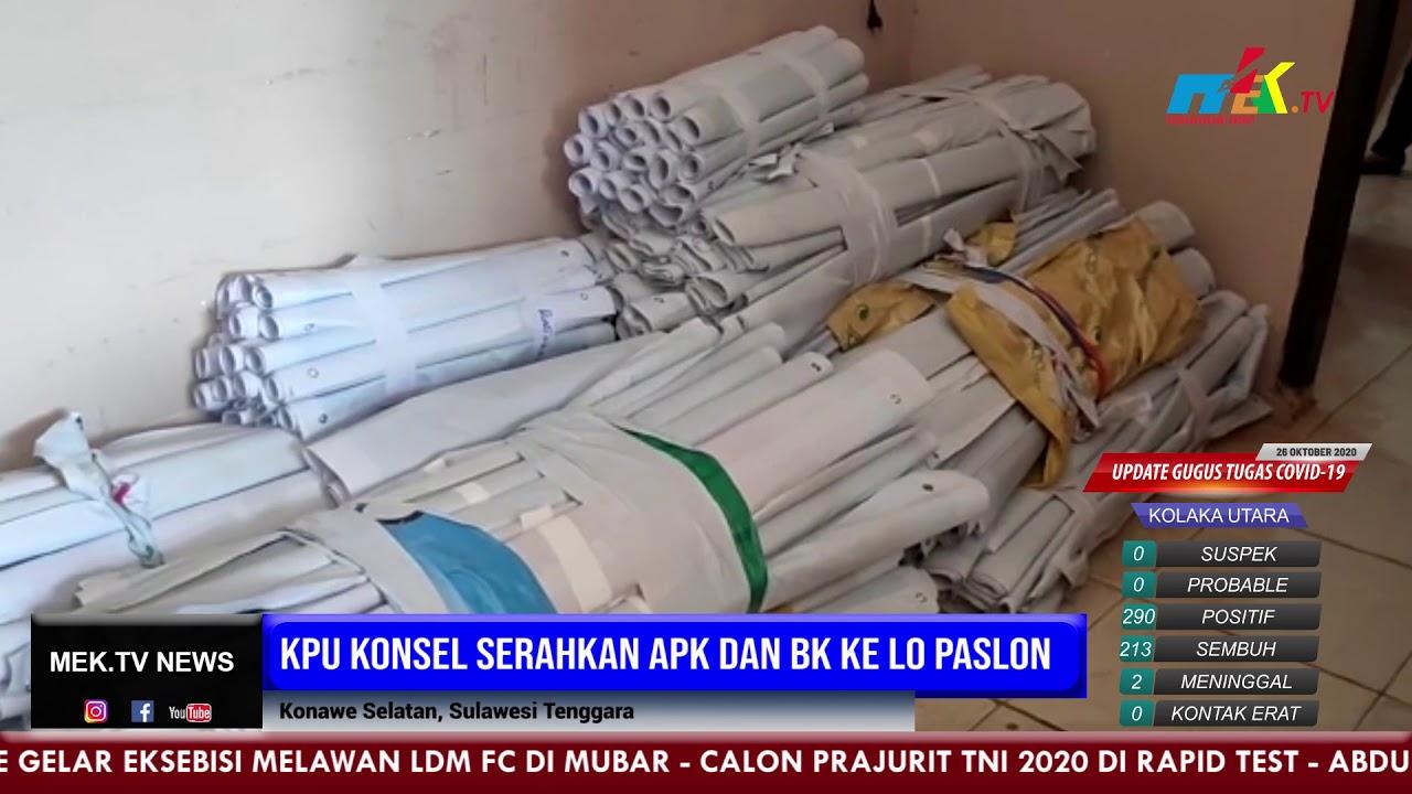 KPU Konsel Serahkan APK Dan BK ke LO Paslon