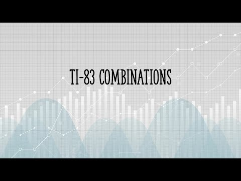 Combinations on the TI83