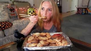 mukbang eating show vegan plant based vegan mama mi