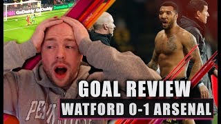 MADNESS! Troy Deeney ELBOWS Torreira | Watford 0-1 Arsenal Goal Review