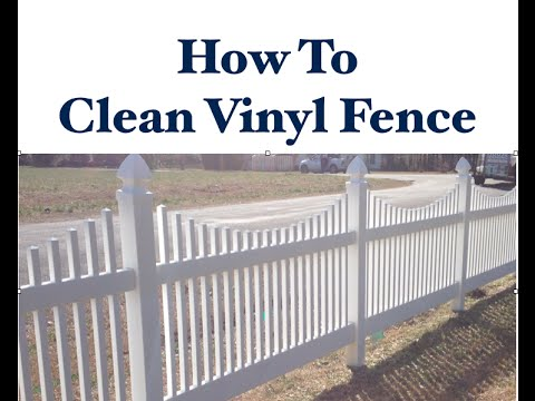 How To Clean Vinyl Fence Youtube