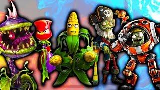 Зомби против Растений видео для детей ПЕРВАЯ БИТВА с Боссами в смешной игре Plants vs Zombies GW 2