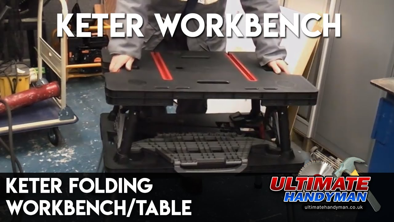Keter Folding Workbench Table Youtube