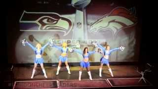 The London Cheerleaders Superbowl Party performance