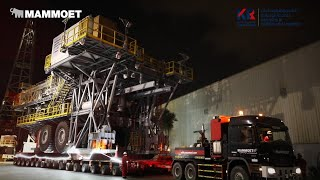 Watch How Mammoet Transports Two Oil Rigs From UAE To Oman