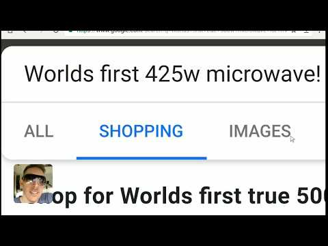 Worlds first 425w (500w surge) microwave for RV, motorhome, tinyhome, solar!