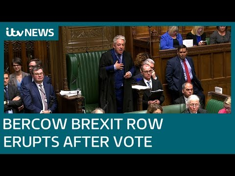 Speaker John Bercow caught in Brexit storm | ITV News