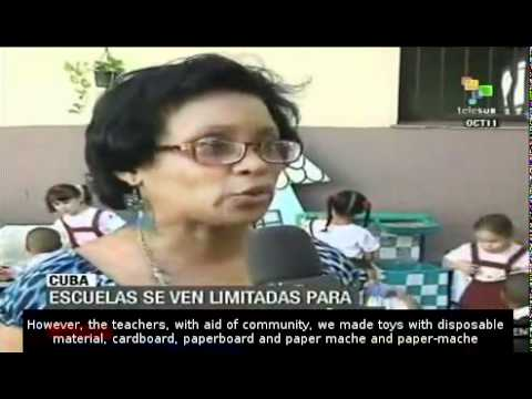 US blockade on Cuba is affecting the education system