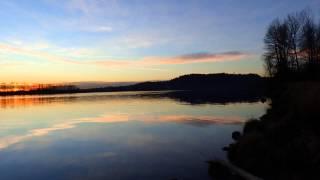 Hatzic Bench - Fraser River Sunset