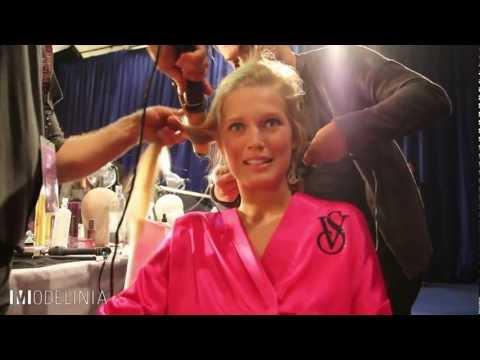 Toni Garrn Backstage at the Victoria's Secret Fashion Show