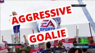 NHL 14 EASHL Fun #1 - AGGRESSIVE GOALIE