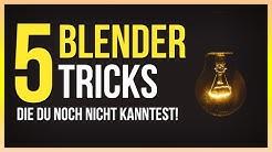 5 Blender Tricks die DU bestimmt nicht kennst!   Blender 2.8 Anfänger Tutorial Deutsch