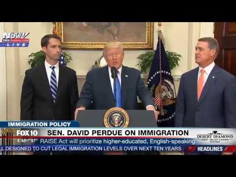 "FNN: President Trump Introduces Merit-Based Immigration System, ""RAISE Act""  (FULL SPEECH)"