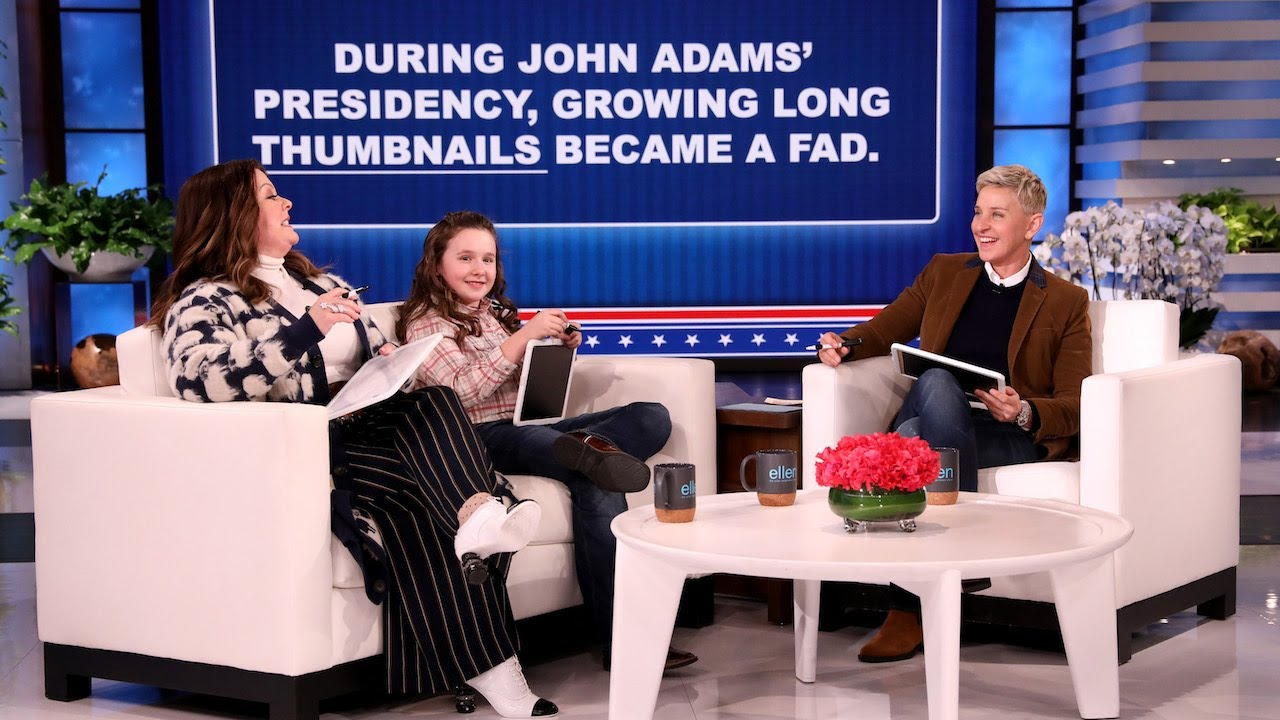 Melissa McCarthy, Macey Hensley, and Ellen Play 'Hail to the Blank'