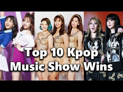 [TOP 10] Kpop Girl Group Music Show Wins All-Time