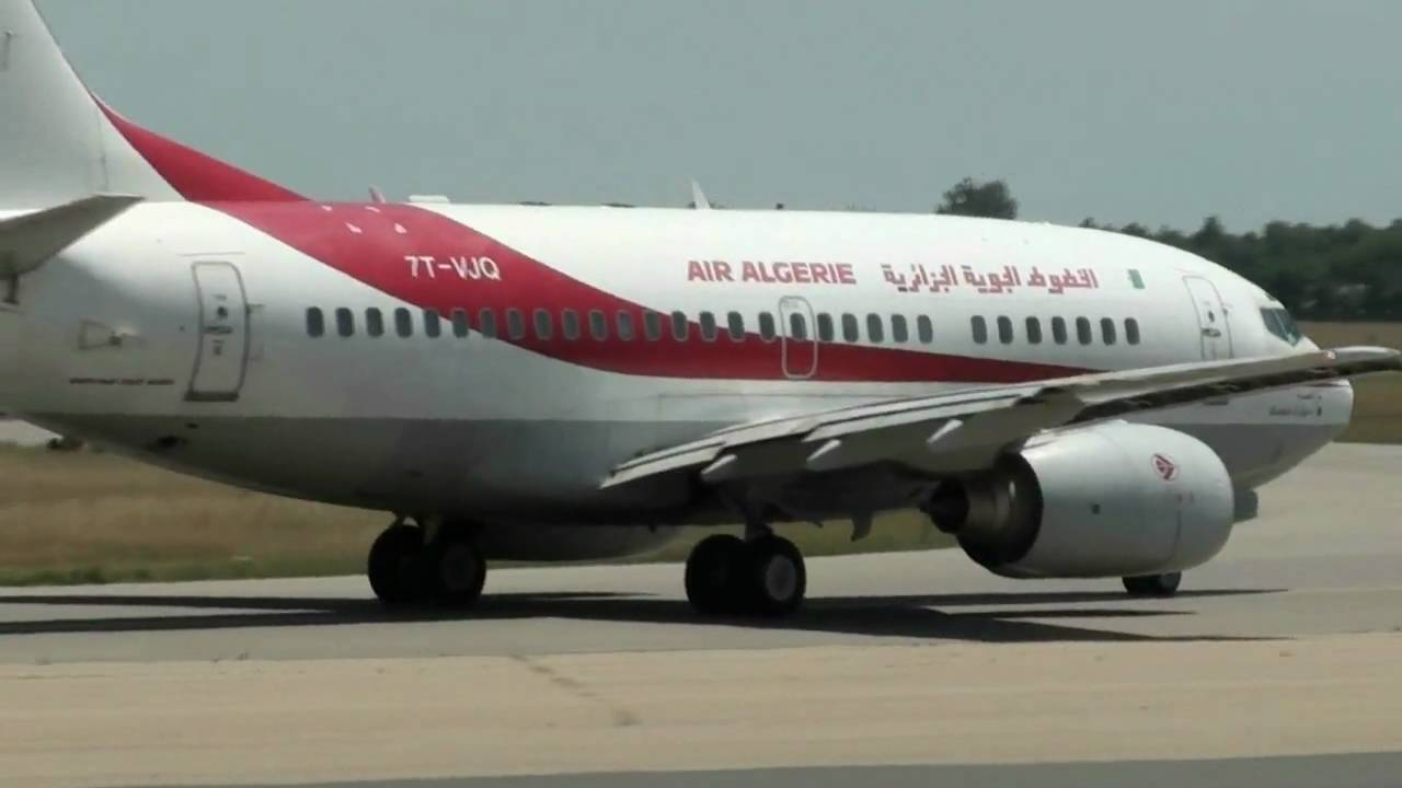 737 600 air alg rie 7t vjq line up and take off at lyon for Air algerie reservation vol interieur