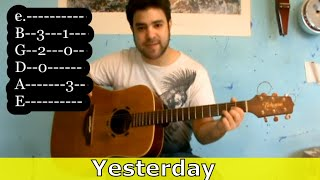 Tutorial: Yesterday - Fingerstyle Guitar - w/ TAB